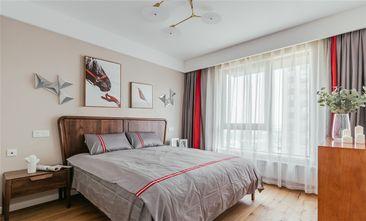 120平米三室两厅北欧风格卧室壁纸装修图片大全