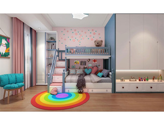 130平米三室一厅中式风格儿童房图片大全