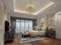 140平米别墅欧式风格卧室飘窗设计图