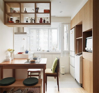 80平米公寓日式风格厨房装修案例