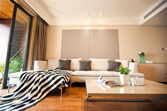 富裕型110平米三室一厅现代简约风格客厅沙发图片大全