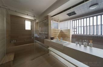 110平米三室两厅日式风格卫生间效果图