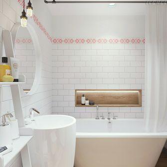 60平米一居室北欧风格卫生间设计图