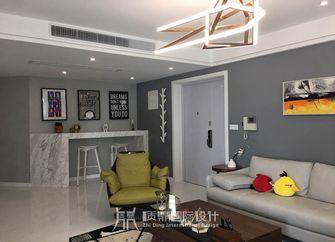 富裕型130平米复式现代简约风格客厅设计图