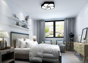 80平米现代简约风格卧室家具效果图