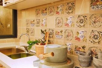 100平米四室一厅田园风格厨房装修图片大全