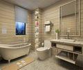 140平米四室两厅现代简约风格卫生间浴室柜效果图