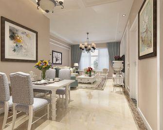 90平米三室一厅欧式风格餐厅装修效果图