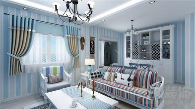 80平米一室两厅地中海风格客厅装修效果图