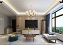 140平米三室五厅现代简约风格客厅设计图