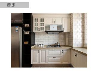 80平米一居室美式风格厨房图片大全