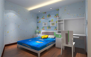 90平米地中海风格儿童房设计图