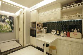 140平米三室一厅混搭风格餐厅装修案例