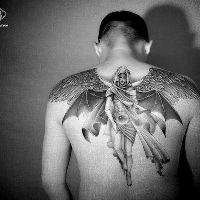 守护天使—老曹纹身图