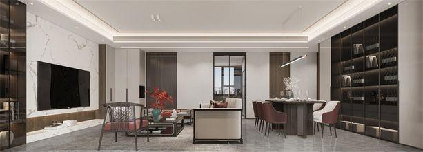 130平米三室两厅新古典风格客厅图片