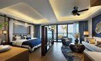 70平米公寓中式风格玄关设计图