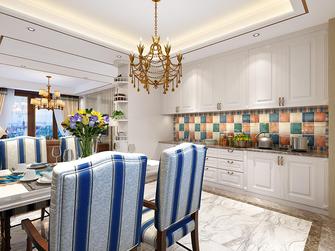 100平米三室两厅田园风格厨房装修图片大全