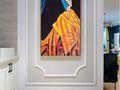 110平米三室一厅地中海风格玄关装修图片大全