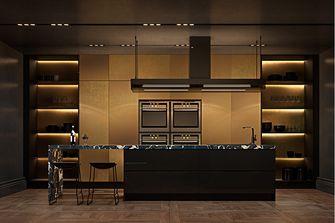 80平米公寓美式风格厨房装修效果图