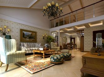 富裕型140平米四室三厅田园风格走廊装修图片大全