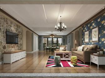 140平米四田园风格客厅装修图片大全