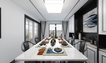 140平米复式中式风格餐厅装修图片大全