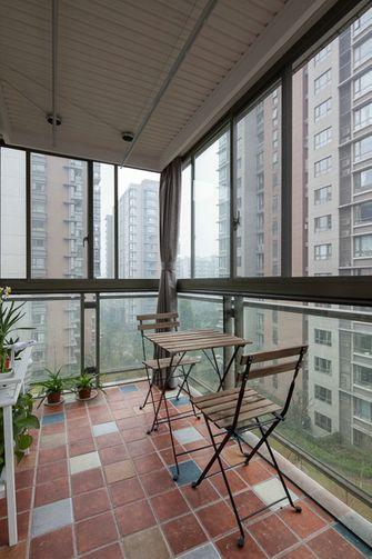 经济型110平米三室两厅英伦风格阳台设计图