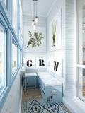 90平米一室两厅北欧风格阳台图片