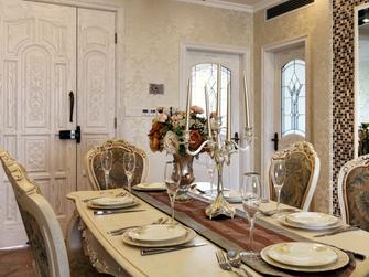 140平米一室两厅欧式风格餐厅装修效果图