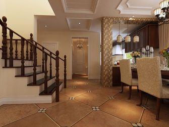 140平米别墅田园风格楼梯间设计图
