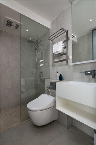 80平米三室一厅北欧风格卫生间设计图