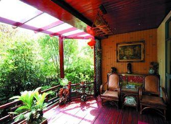 140平米四室两厅东南亚风格阳台装修图片大全