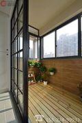 富裕型80平米东南亚风格阳台装修图片大全