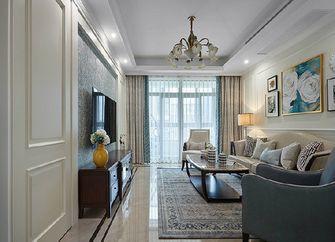 90平米三美式风格客厅设计图