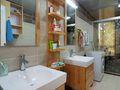 5-10万90平米现代简约风格卫生间浴室柜设计图