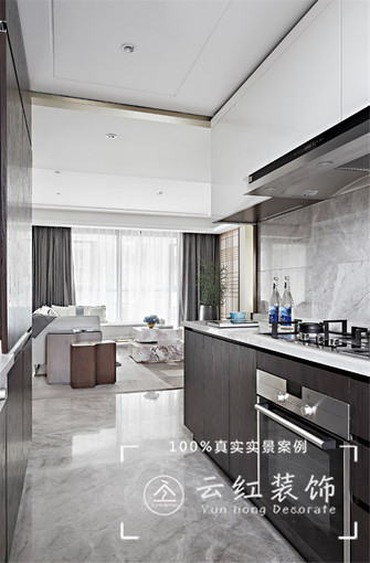 120平米复式现代简约风格厨房装修案例