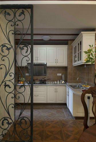 100平米三室一厅美式风格厨房装修案例
