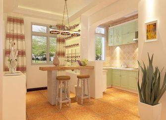 140平米四室两厅田园风格厨房吧台装修图片大全