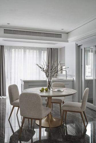 140平米三室一厅美式风格餐厅图片