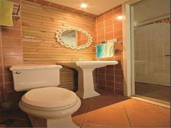 90平米三室一厅田园风格卫生间图