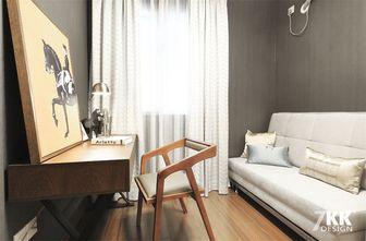 80平米三室两厅现代简约风格书房飘窗欣赏图
