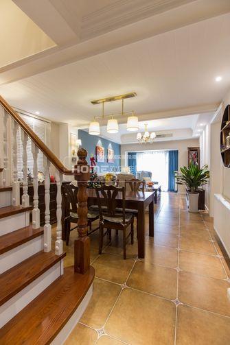 经济型120平米三室两厅美式风格楼梯装修效果图