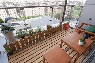 80平米三室五厅现代简约风格阳台图