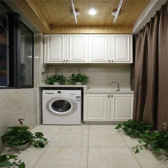 110平米三室一厅田园风格阳台设计图