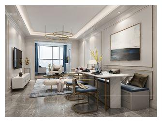 80平米三室两厅法式风格客厅装修案例