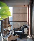 140平米三室两厅新古典风格阳台图片