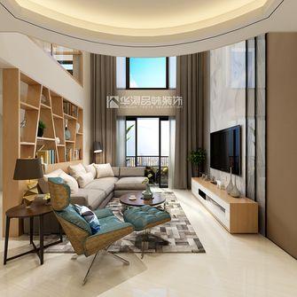 140平米复式北欧风格客厅图