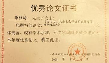 年度优秀论文证书