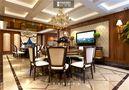 140平米别墅新古典风格餐厅壁纸装修效果图