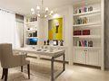 130平米三室两厅美式风格书房橱柜图片